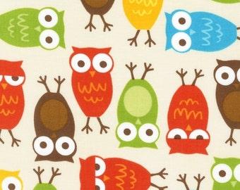 Ann Kelle Cool Cords Owls in Harvest CORDUROY Fabric - 1 Yard