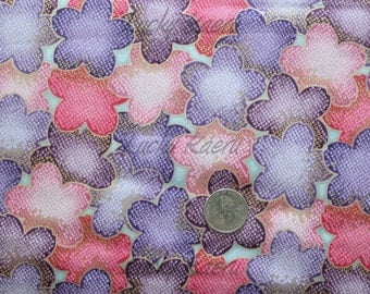 SALE/CLEARANCE Robert Kaufman Satsuki Cherry Blossom Overlap in Colorway Vintage  Fabric - Half Yard