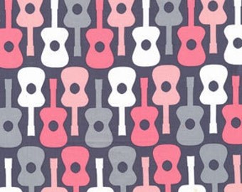 Michael Miller Groovy Guitar Bloom Fabric - Half Yard