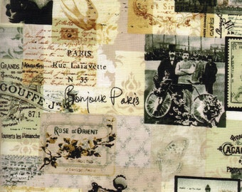 Paris News in Antique Fabric - Half Yard