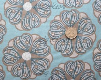 SALE/CLEARANCE Carol Van Zandt, Tokyo Rococo, Large Floral Gray Fabric - Half Yard