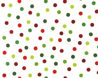 Ann Kelle Remix Tossed Dots Holiday Fabric - Half Yard