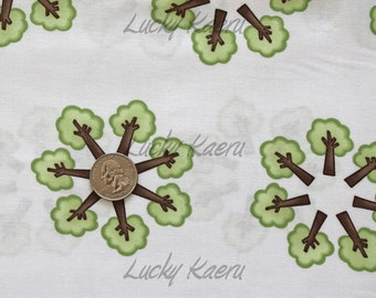 SALE/CLEARANCE Deb Strain, Kate Strain, Arrin Turnmire, Grow With Me, Trees Creamy White Fabric - By the Yard