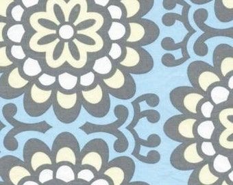 Amy Butler Wallflower Sky Fabric - REMNANT Size 30 Inches by 44 Inches