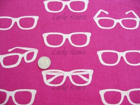 Echino Ni-co Sunglasses Pink Fabric- Half Yard