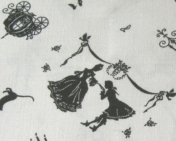 Japanese Fairy Tale Cinderella Fabric Half Yard