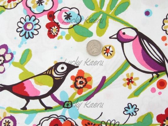 Alexander Henry Larkspur Bird Brite Multi Fabric - By the Yard