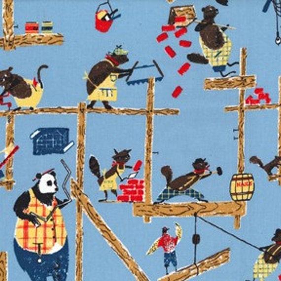 SALE Michael Miller Animal House Retro Fabric - 1 Yard (Last One)