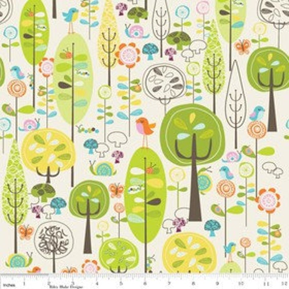 NEW Deena Rutter for Riley Blake Designs, Happier, White Main Fabric - By the Yard