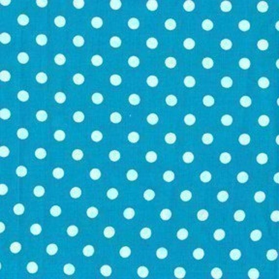 Michael Miller Dumb Dot Teal Fabric - By the Yard