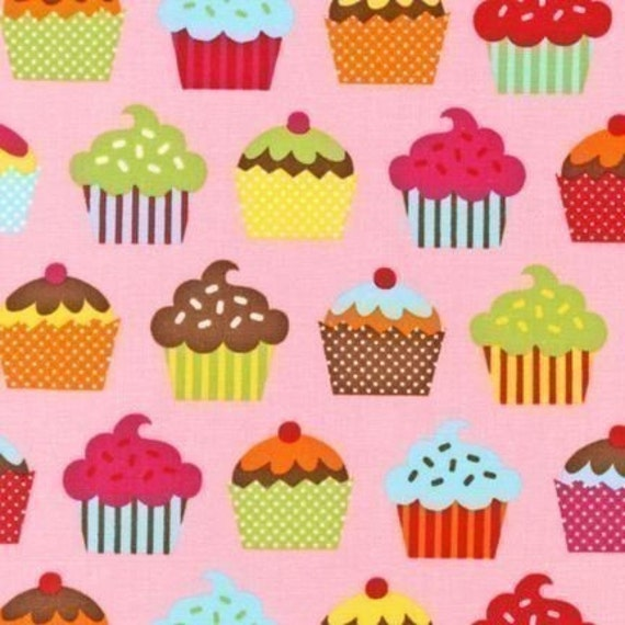 Caleb Gray Confections Cupcake Pink Fabric - By the Yard