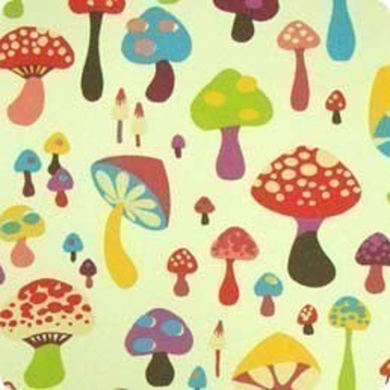Alexander Henry Willow Shroom Natural Fabric - By the Yard