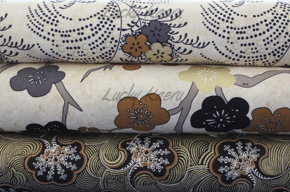 Kathy Hall, Plum Blossoms Half Yard Fabric Set