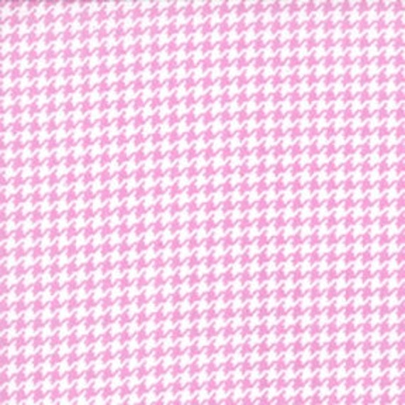 Michael Miller Tiny Houndstooth Orchid Fabric - By the Yard