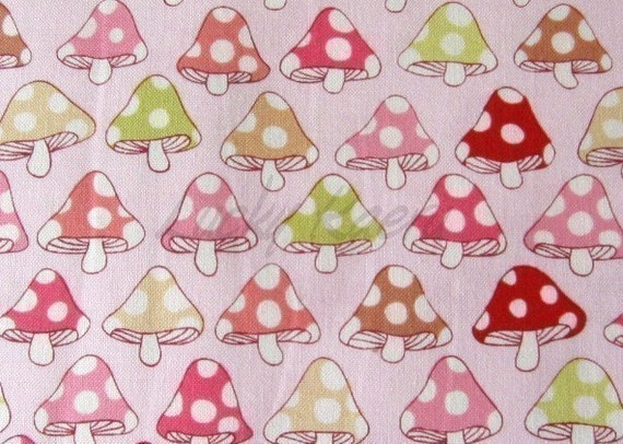 Alexander Henry Tillbrook Toadstool Pink Fabric - By the Yard