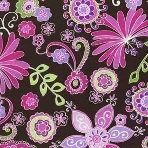 Michael Miller Boho Blossom Orchid Fabric - By the Yard