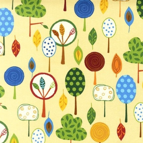 Amy Schimler, Animal Party Too, Forest Earth Tan Fabric - By the Yard