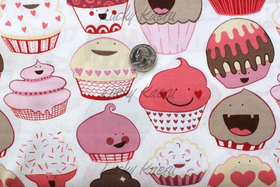 Alexander Henry Cupcake Fabric in Mocha Pink - By the Yard
