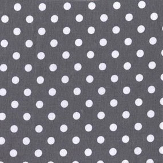 Michael Miller Dumb Dot Charcoal Fabric - By the Yard