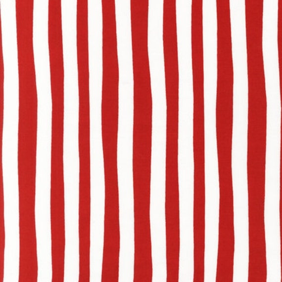 Dr. Seuss, Celebrate Seuss, Stripes in Crimson Fabric - By the Yard
