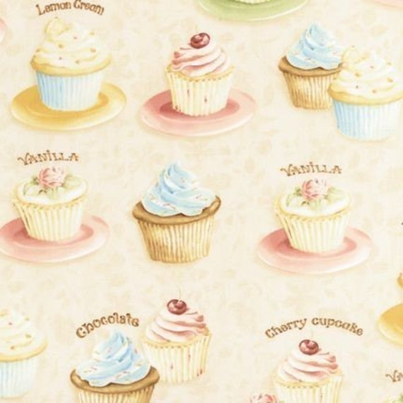 Lisa Audit Confections Cupcake in Vintage Fabric - By the Yard