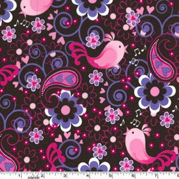 Michael Miller Birdsong Pink Fabric - By the Yard