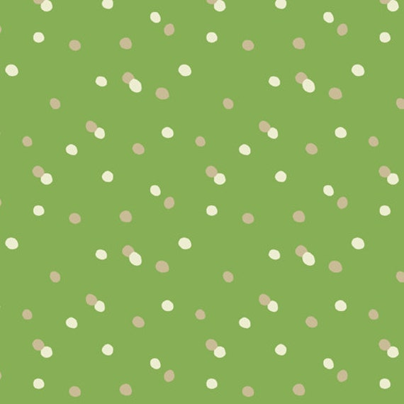 Winter Wonderland Dots Green Fabric - By the Yard