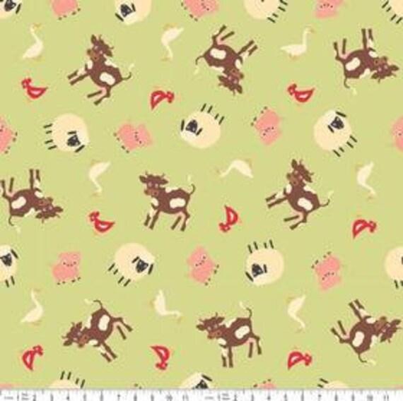 NEW Riley Blake Designs, Farm Fresh Farm Green Fabric - By the Yard