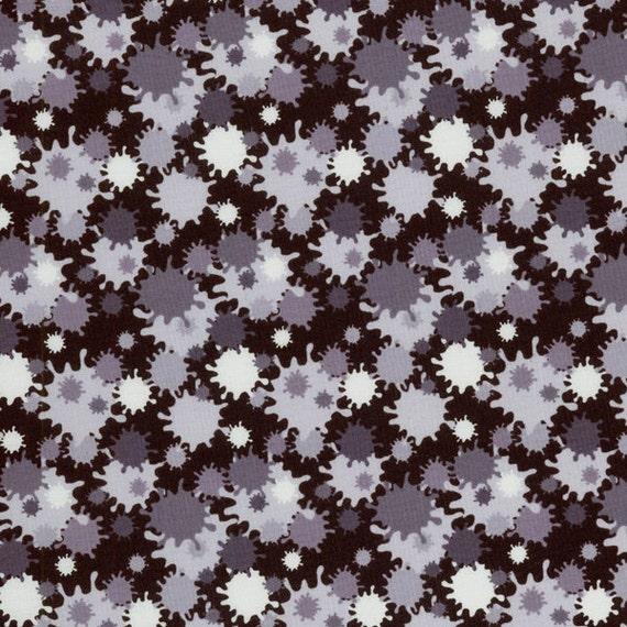 2modmoms School Of Rock Paintball Splat Black Fabric By