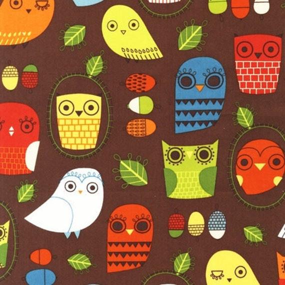 Suzy Ultman, Critter Community, Owls Retro Fabric - Reserved for twotreedesigns