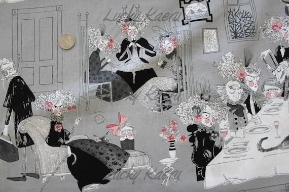 Alexander Henry, Ghastlies, A Ghastlie Night on Smoke Fabric - By the Yard