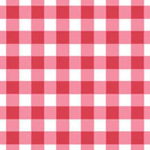 SALE Heather DuPont, Home To Roost, Red Check Cotton Fabric - By the Yard