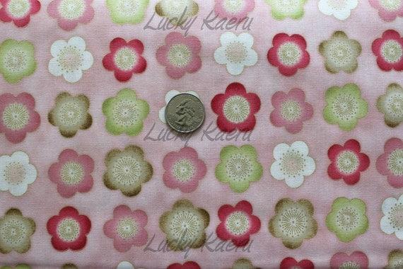 Robert Kaufman Satsuki Cherry Blossom Rows in Colorway Pink Fabric - By the Yard