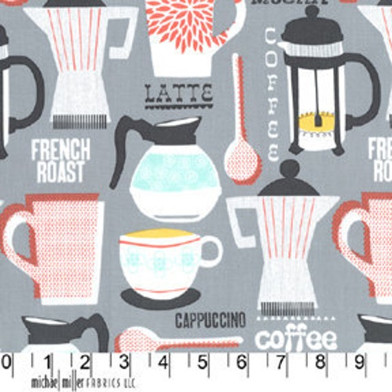 Michael Miller French Roast Gray Fabric - By the Yard