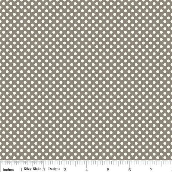 Riley Blake Designs, Verona, Dots Gray Fabric - By the Yard