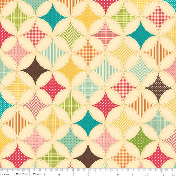 Riley Blake Designs, Fly A Kite, Ice Cream Designer Cloth Cream Fabric - Reserved for butterbeansboutique