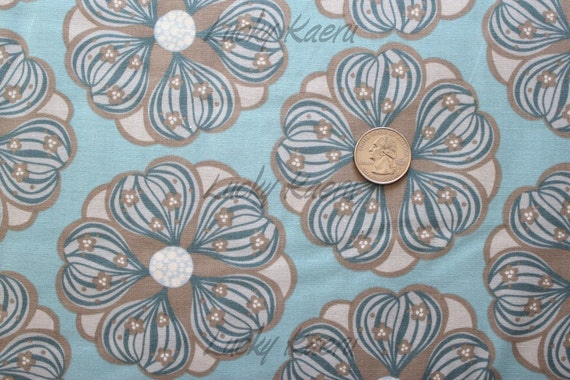 Carol Van Zandt, Tokyo Rococo, Large Floral Gray Fabric - By the Yard