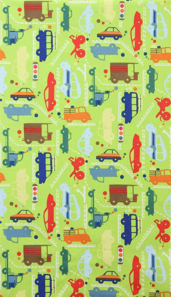 Alexander Henry Beep Beep Green Fabric - By the Yard