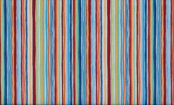Makower uk space multi stripe fabric by the yard for Space fabric by the yard