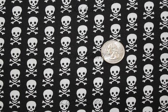 Windham Basics, Skull and Crossbones Black Fabric - By the Yard