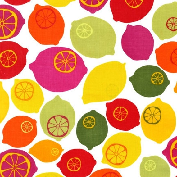 NEW Iota, Metro Market, Lemons Sorbet Fabric - By the Yard