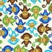 Ann Kelle Urban Zoologie, Monkeys Royal Fabric - By the Yard