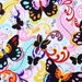 Alexander Henry Papillon Black Brite Fabric - By the Yard