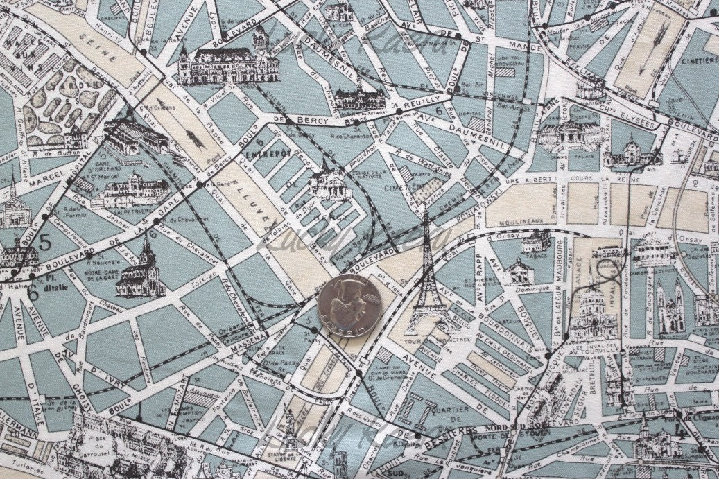 Paris Map Fabric Images Reverse Search - Paris map fabric