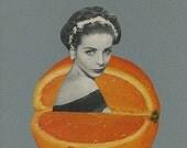 Juicy.  Original collage by Vivienne Strauss.