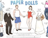 Custom Personalized Couple Paper Dolls