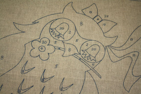 Owl Embroidery Fabric Crewel Canvas - Gigantic