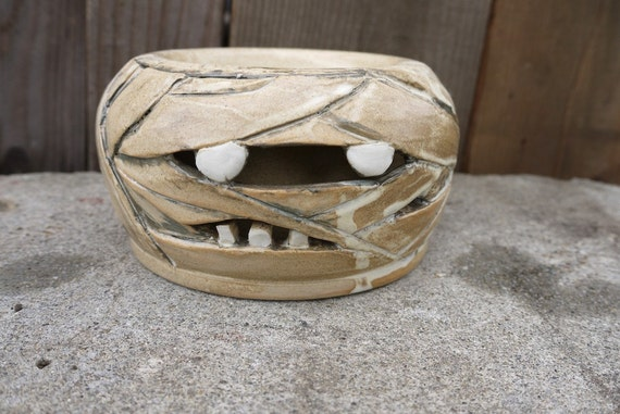 hand thrown, ceramic,  Mummy double-walled bowl--SALE--