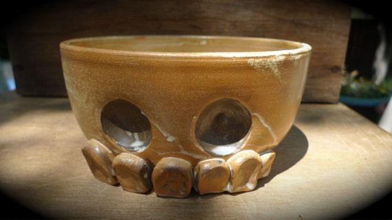 Ceramic skull cereal bowl