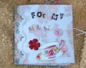 For My Mum Mom Mini Gift Book Scrapbook\/Photo Album OOAK UK